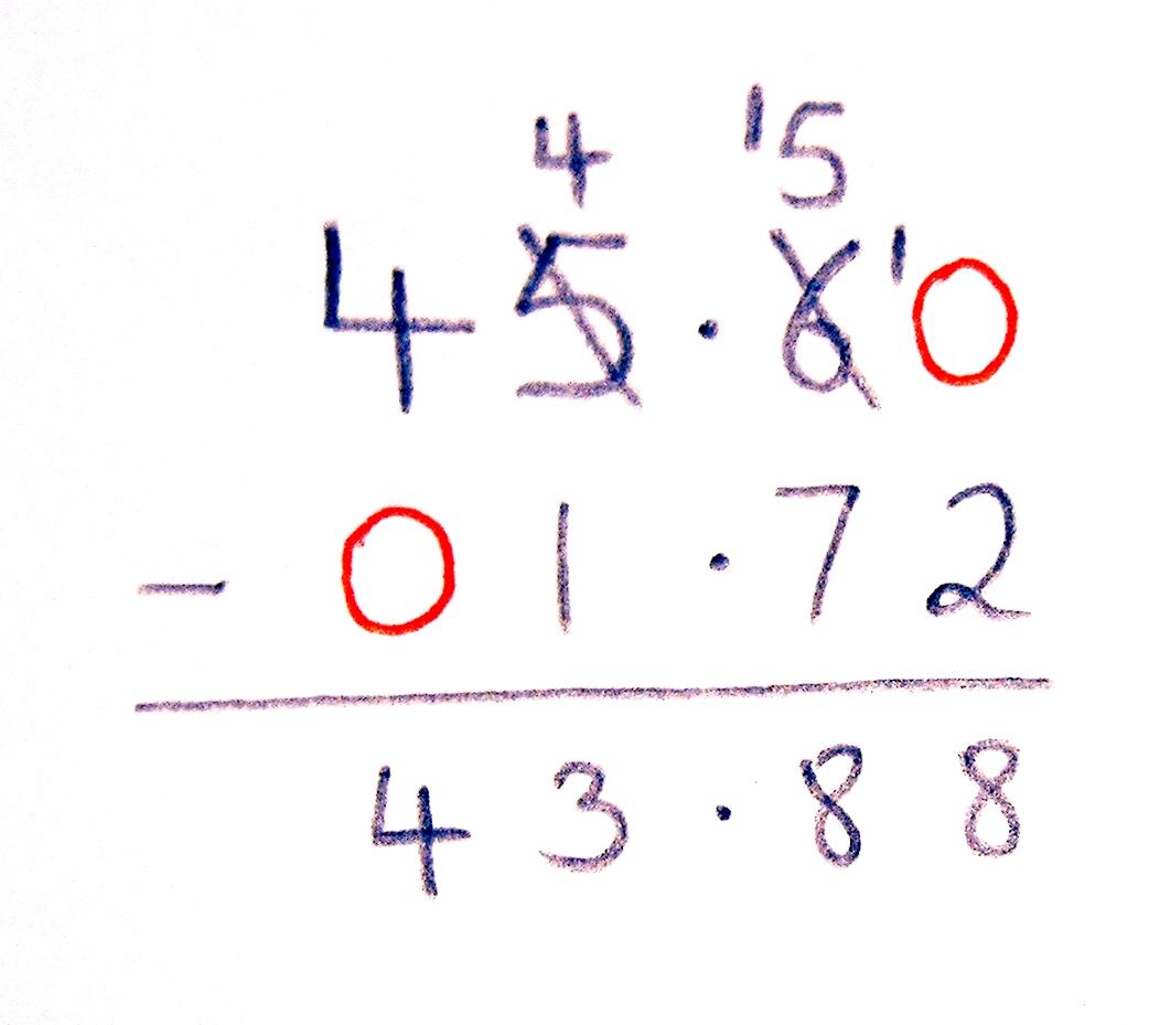 Worksheet Decimal Subtraction shg to decimal subtraction 1